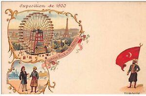 Turquie-N-47737-Esposizione-da-1900-Bandiera-CP-Pubb-Illustratore
