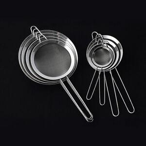 8-Sizes-Stainless-Steel-Wire-Fine-Mesh-Oil-Strainer-Flour-Sifter-Sieve-Colander