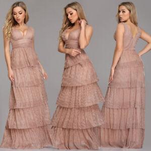 Women Blush Formal Evening Bridesmaid Dress Party Ball Prom Gown Long Dress 7766