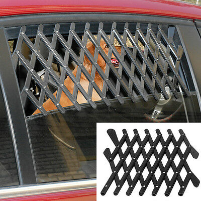2pcs Black Pet Dog Travel Car Window Ventilation Grill Outdoor Safe Guard Mesh