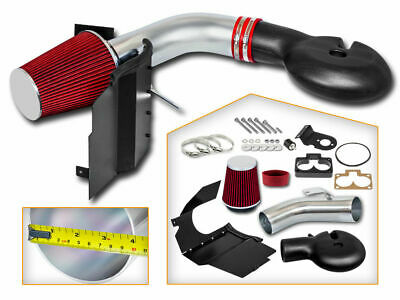 Filter BCP RED 94-02 Dodge Ram 2500 V8 5.9L Heat Shield Cold Air Intake