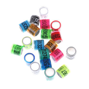 Personal Customization Pigeon Rings Bird Ring Leg Rings Identify Dove Bands 8mm Plastic Aluminium Rings Ic/id Card