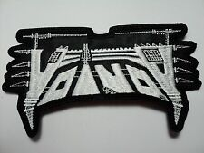 VOIVOD  SHAPED WHITE  LOGO     EMBROIDERED PATCH