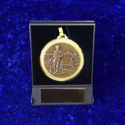 60 mm Athlétisme Médaille boîte de présentation de la concurrence événement Gravure Gratuite