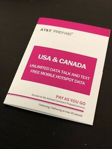 Prepaid-USA-amp-Canada-US-AT-amp-T-10-Days-Unlimited-Data-Voice-amp-Text-SIM-Card