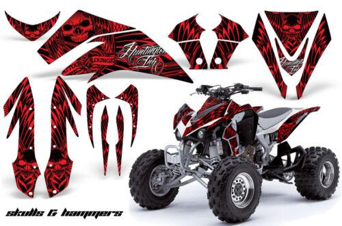 ATV Graphics Kit Quad Decal Sticker Wrap For Kawasaki KFX450R 2008-2014 HISH RED