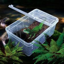 Transparent Plastic Box Insect Reptile Transport Breeding Live Food Feeding Box