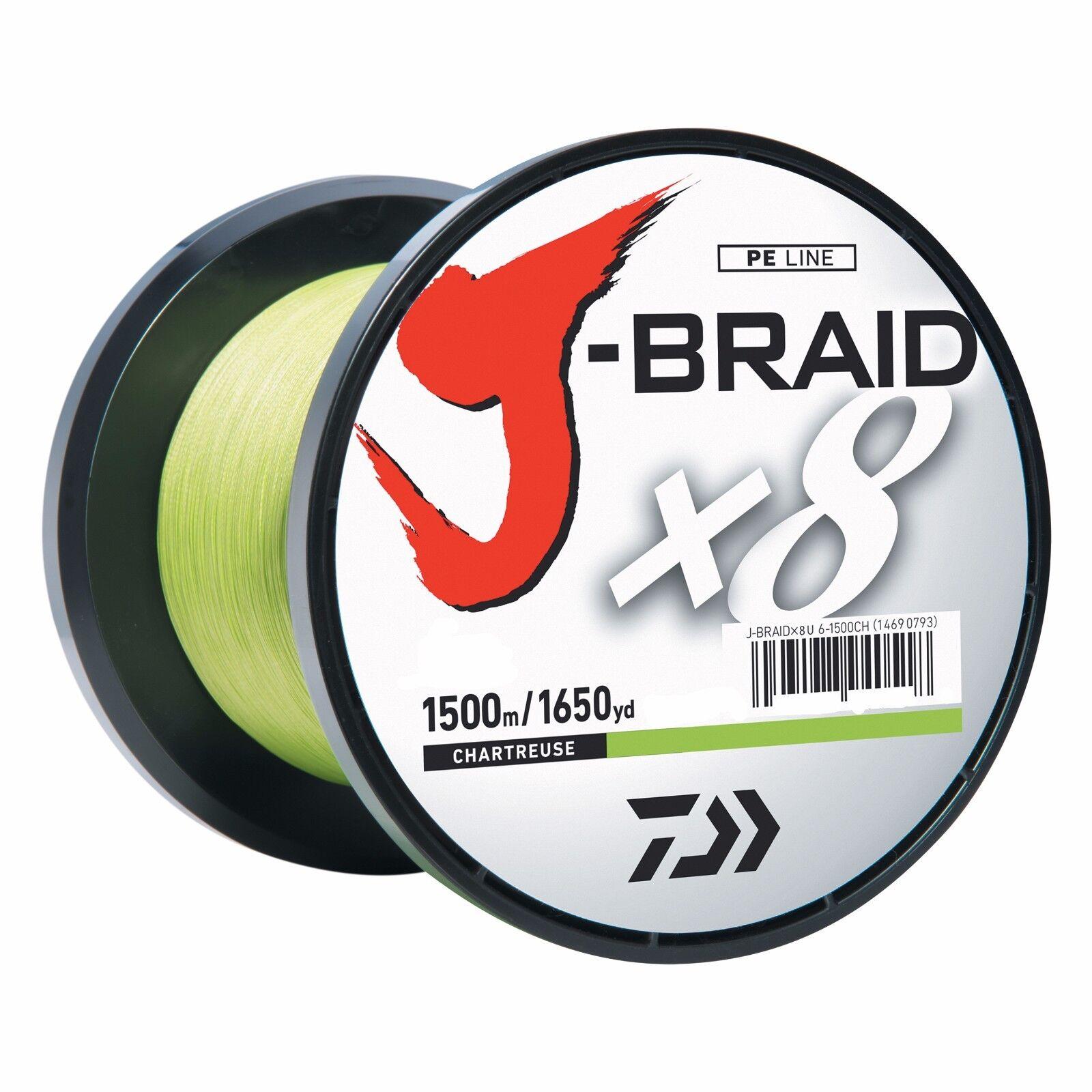 Daiwa J-BRAID Braided Braided Braided CHARTREUSE Line 40lb 1650yd 1500 Meter 40-1500CH 302b04