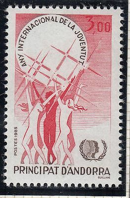 Europe Stamps Sweet-Tempered Timbre Andorre France Neuf N° 341 Annee Internationale De La Jeunesse Pure And Mild Flavor