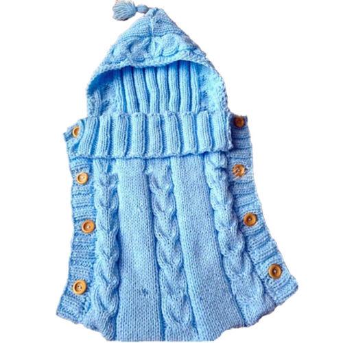 Newborn Toddler Baby Swaddle Wrap Sleeping Bag Bath Robe Soft Bedding Blanket US