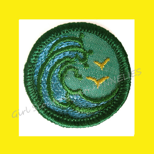 SWIMMER SWIMMING 1960-62 ONLY Girl Scout Intermediate Badge Waves Birds Combine