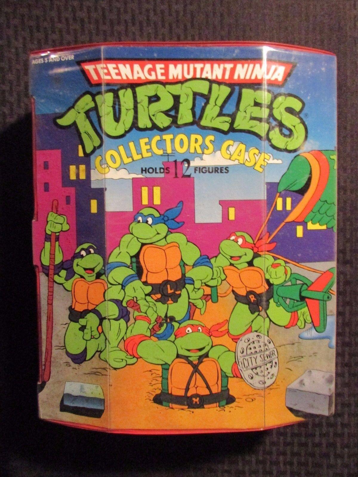 1991 TEENAGE MUTANT NINJA TURTLES Collectors Case w/ 9 Figures FN/FN+ TMNT