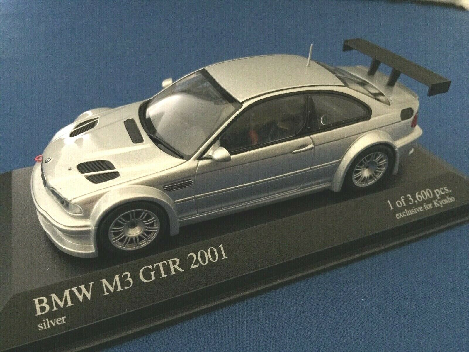 1 43 Minichamps 403012193 Bmw M3 Gtr E46 Matt Black For Kyosho For Sale Online Ebay