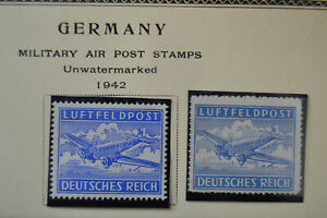 Mint-1942-Stamp-Nazi-Eagle-Swastika-Germany-WWII-Hitler-Era-LUFTFELDPOST-Airpost
