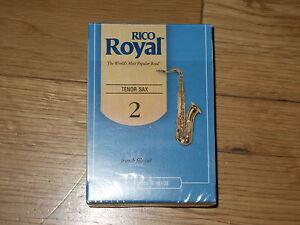 Rico Royal Tenor Sax Reeds 2.0 Boîte De 10 Ouvrir Commuté à Synthétique Dégagements-afficher Le Titre D'origine Usines Et Mines