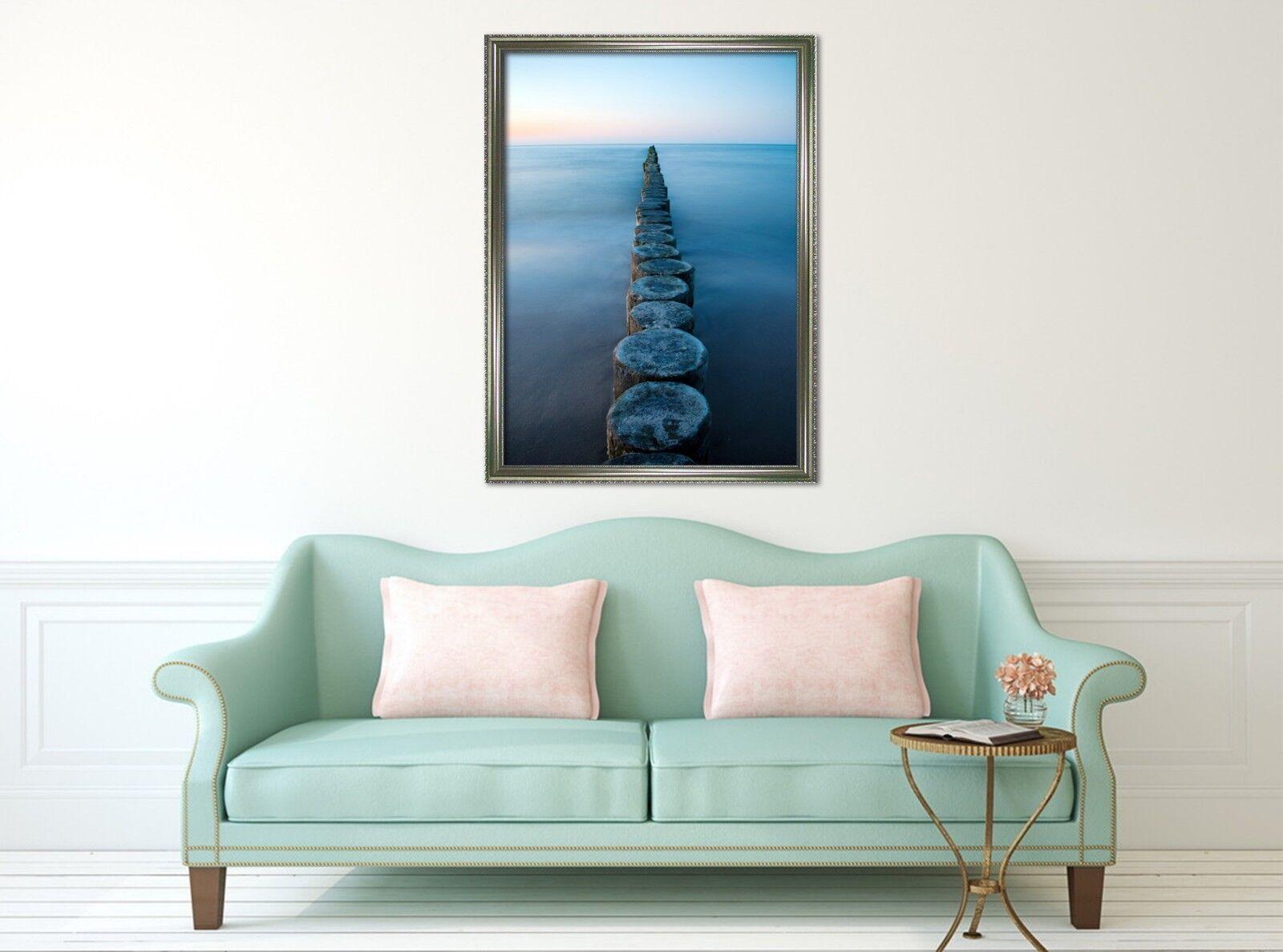 3D Coastal Wood Pile 65 Fake Framed Poster Home Decor Drucken Painting Unique Kunst