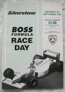 SILVERSTONE 9 Sep 1995 Boss Formula Race Day Official Programme