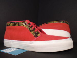 7111954dc3 2010 VANS CHUKKA BOOT  95 SUPREME SNAKE SKIN RED WHITE ERA PRO VN ...