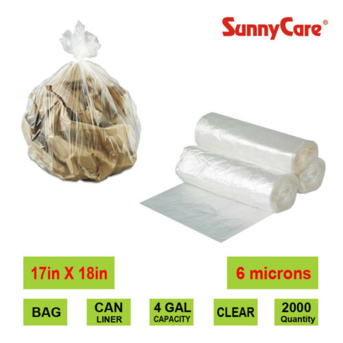 SunnyCare 4 Gal. Can liner 0.2mil 17in x18in Natural 2000case