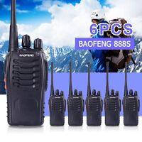 6 X Baofeng Bf-888s Walkie Talkie Handheld Uhf 400-470mhz 888s Two Way Radio Usa