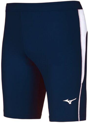Mizuno DryLite Core Mens Running Short Tights Blue Race Tight Sprint Shorts