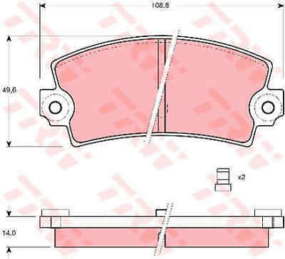 Rear Brake Pad Fitting Kit Fits Renault Fuego GTS Genuine Apec Front