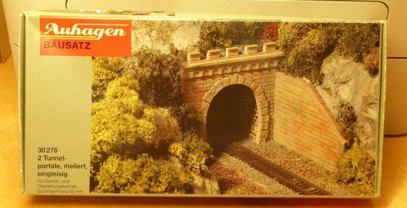 Auhagen 30276 13276 2 pezzi tunnel binario singolo per TT 1:120 scatola
