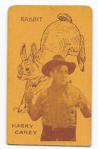Rare 1920's Film Star & Animals Strip Card Harry Carey / Rabbit