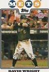 2008 Topps David Wright #2 Baseball Card