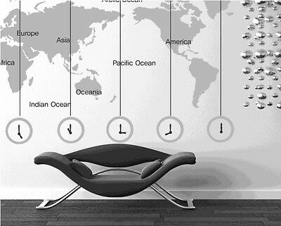 SUPER Large SIZE World Map wall stickers Decal Removable Art Vinyl Decor DIY