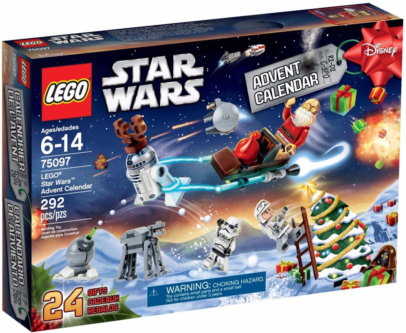 2015 LEGO estrella guerras 75097 Advent Calendar Kit bambini Christmas  The Force Awakens   elementi di novità