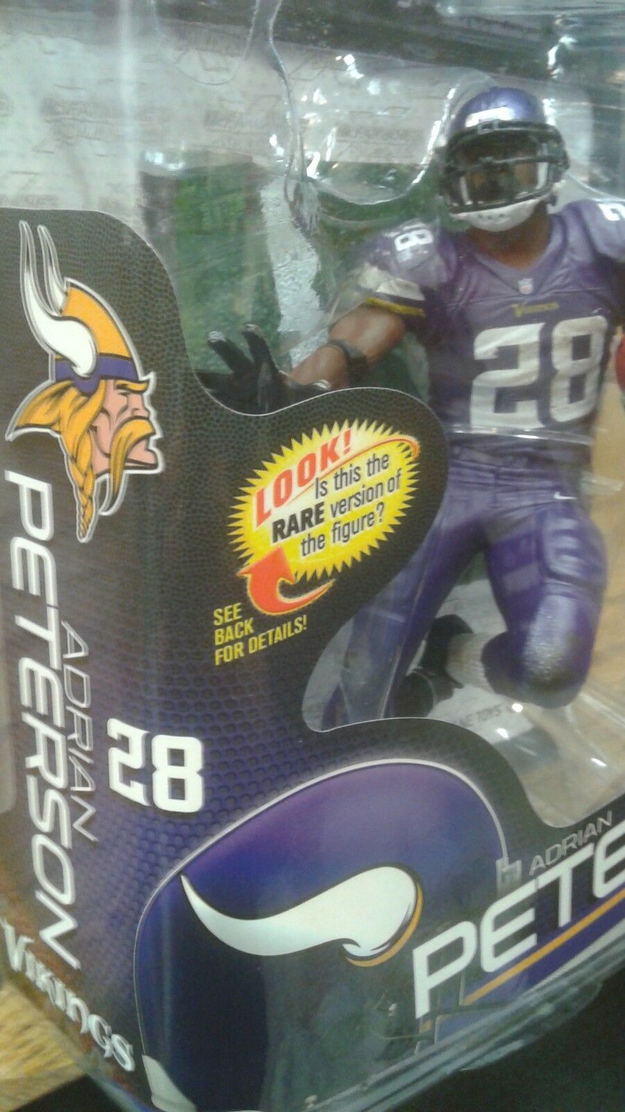 MCFARLANE NFL SERIES SERIES SERIES 34 ADRIAN PETERSON CHASE VARIANT gold LEVEL  500 RARE 7bd80c