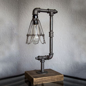 Iron pipe table desk lamp light retro industrial style metal wire image is loading iron pipe table desk lamp light retro industrial keyboard keysfo Image collections