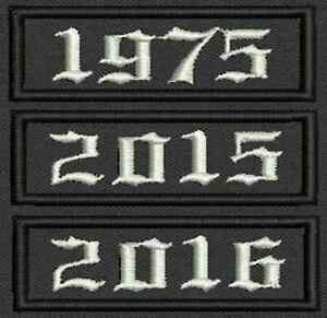00f48b285aab Details about Set of 3 Custom Embroidered Name Tag, Badge Iron on or Sew on  Patch 2