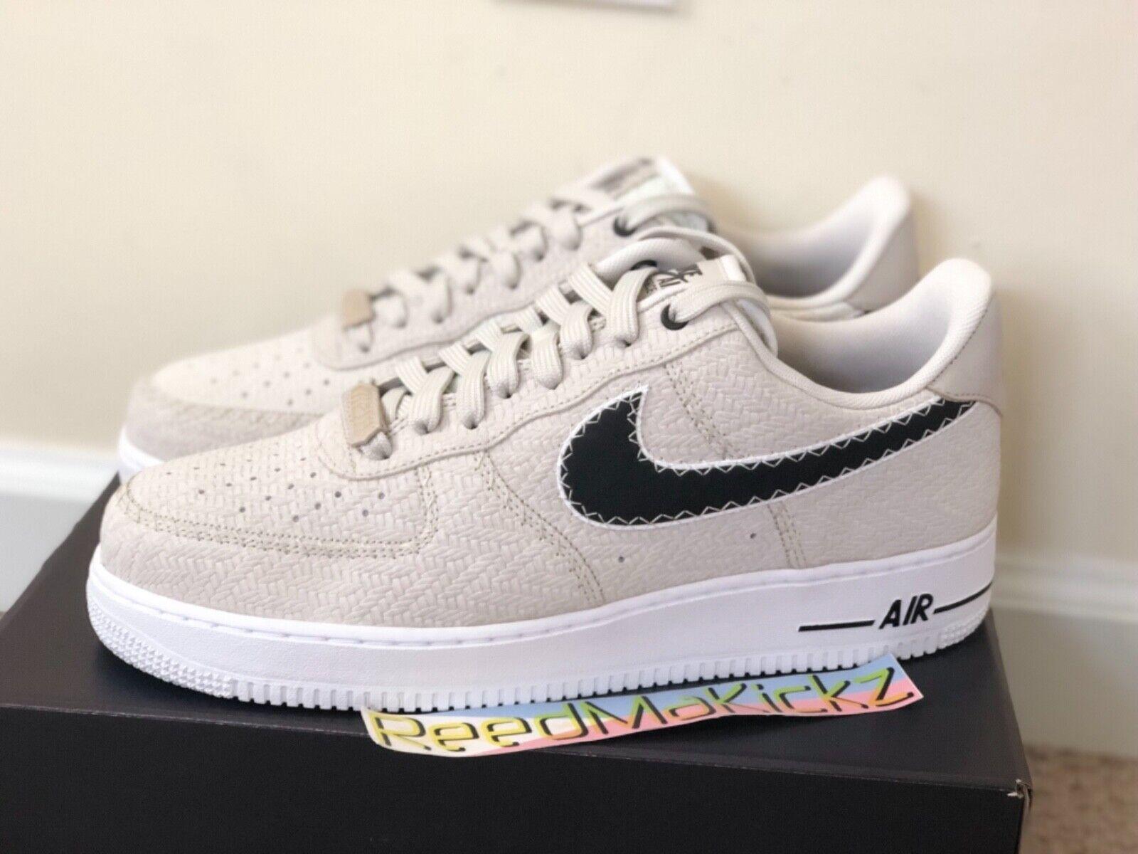 Nike Air Force 1 Low '07 N7 Light Bone Black White Mens sizes AO2369 001