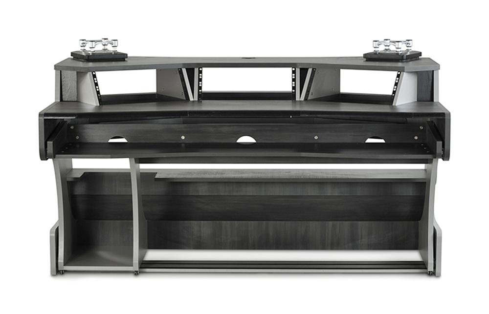 zaor miza x2 studio workstation desk built in speaker stands titanium wenge ebay. Black Bedroom Furniture Sets. Home Design Ideas