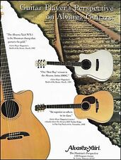 Alvarez Yairi Artist 5088C, WY-1 & 5032 Timber Ridge acoustic guitars 8 x 11 ad
