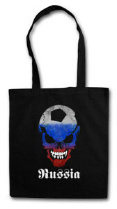RUSSIA RUSSIAN FOOTBALL SOCCER SKULL FLAG STOFFTASCHE Fan Hooligan Soviet