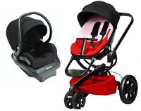Quinny Moodd Travel System Block Red With Stroller & Mico 30 Car Seat Black