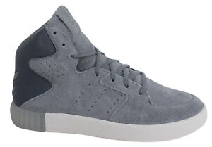 Adidas Originals Invader 2.0 Womens Lace Up Grey Leather Trainers S80557 U43
