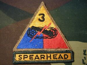 Details about 3rd Armored Division US Army color patch