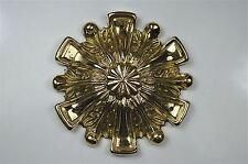 Beautiful Regency brass ormolu roundel mount mirror furniture emblem SMB3
