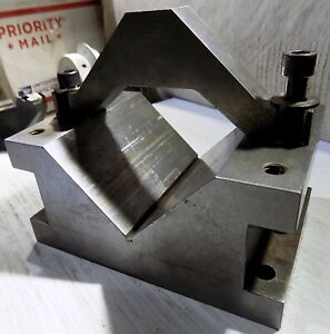 Price is for 1 Hardened Steel VEE BLOCK V-BLOCK WORKHOLDING FIXTURE with CLAMP
