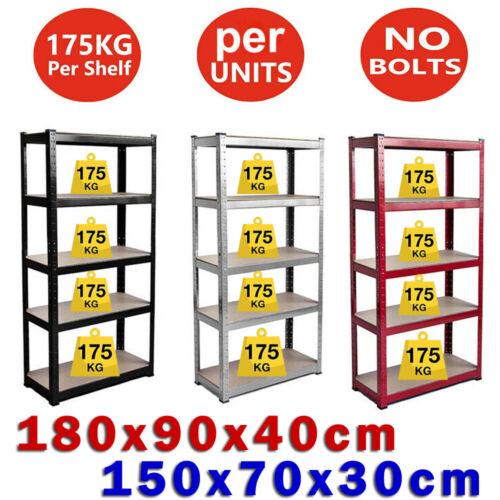 5 Tier Shed Boltless Metal Shelving Shelves Storage Unit Durable Garage Workshop
