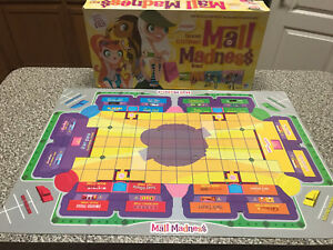Mall-Madness-Milton-Bradley-Board-Game-Replacement-Parts-Game-board-2004
