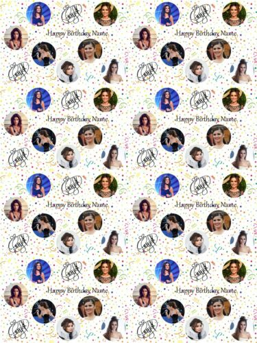 Cheryl Cole Personalised Birthday Wrapping Paper ADD NAME//S CHOOSE BACKGROUND