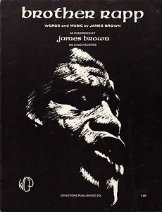 James Brown-Brother Rapp-1970 Sheet Music-Original USA issue-Rare ...