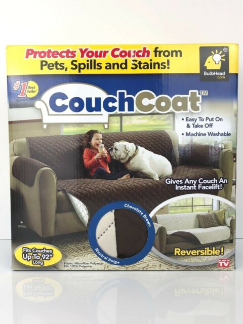"""BulbHead """"Couch Coat"""" ~ Protects Your Couch From Pets, Spills and Stains"""