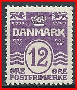 DENMARK-1926-NUMERAL-12ore-HIGH-VALUE-SC-96-VF-FRESH-OG-MH-sl-BENT-E15