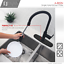 thumbnail 2 - Kitchen Faucet Plate in Stainless Steel Black Matte Finish